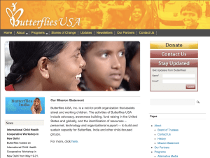 Butterflies USA Children's Charity - International Child Health Organization
