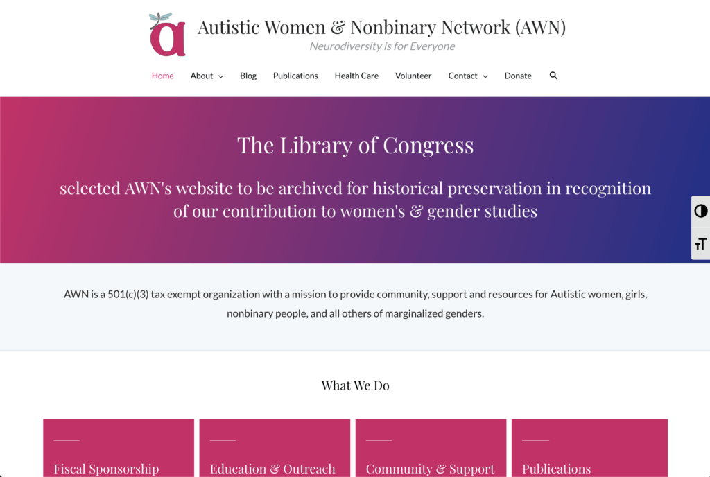 Autistic Women & Nonbinary Network (AWN)